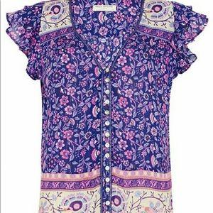 Dahlia blouse in purple haze by Spell